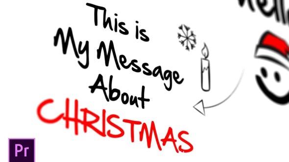 592圣诞节手绘视频节日祝福Pr模版,Christmas