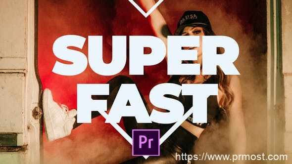596创意快闪视频Pr模版,Super Fast Promo