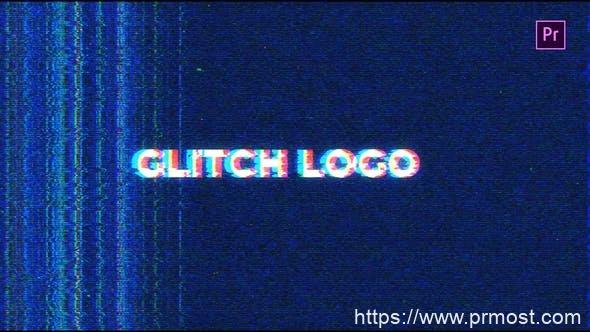 644信号干扰logo演绎Mogrt预设AE模版,Noise Glitch Logo Mogrt
