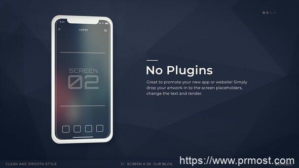 690手机APP促销宣传Mogrt预设AE模版,Mobile App Promo