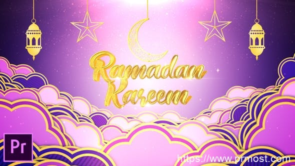 692斋月节日视频开场Mogrt预设Pr预设,Ramadan Kareem Opener – Premiere Pro
