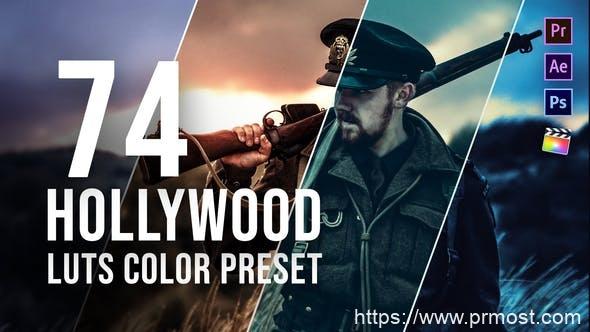 693好莱坞调色Pr预设Pr模版,Hollywood LUT Color Grading Pack