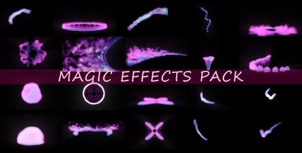 20组爆炸坠落流体发光魔法粒子能量烟雾特效动画视频素材