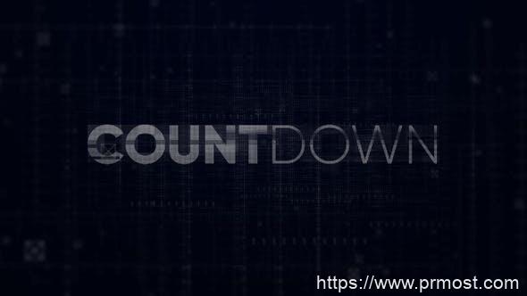 699高科技倒计时视频开场Mogrt动画Pr预设,Countdown – Digital Opener