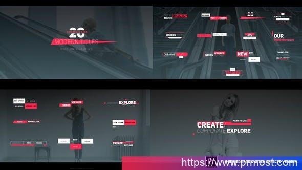 701商业企业现代文字标题Pr预设AE模版,Business Modern Titles
