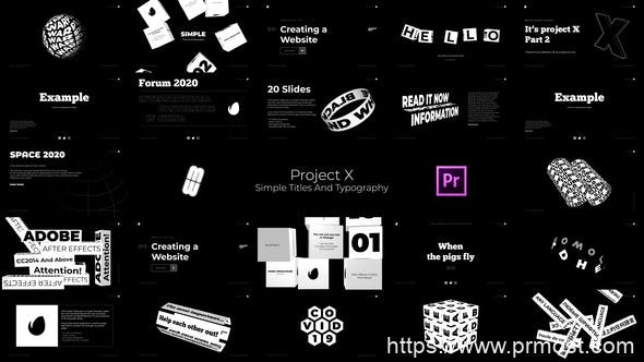 703简洁创意文字特效Mogrt预设Pr预设,Simple - Titles And Typography