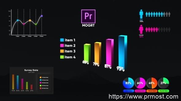 704数据信息图表Mogrt预设Pr预设,Infographic Smart Graphs-MOGRT