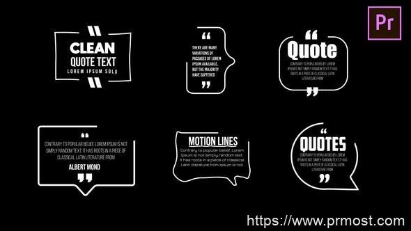 708简洁文字会话框文字特效Mogrt预设Pr预设,Clean Quotes