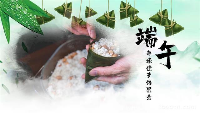 718中国水墨风端午节粽情端午图文Pr模板