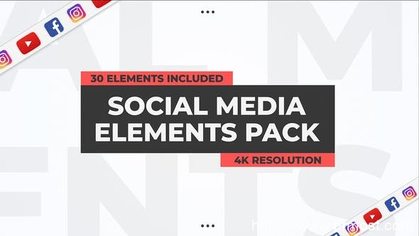737社交媒体视频包装Pr模版,Social Media Elements Pack – Premiere Pro