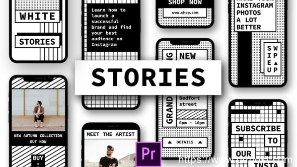 759创意竖屏视频特效Pr模版,Stories