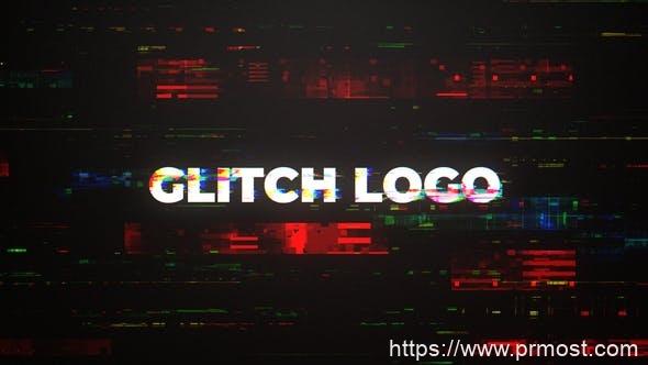 760数字科技信号干扰文字特效Mogrt动画Pr预设,Digital Glitch Intro Mogrt