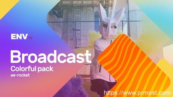 789创意栏目包装Mogrt动画Pr预设,Broadcast ID Colorful Pack Mogrt