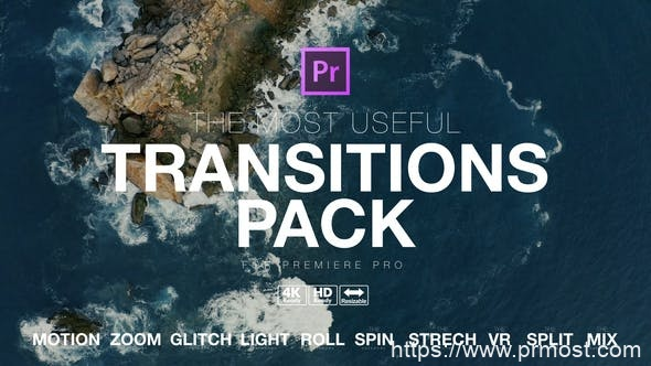 801创意视频转场过渡特效Pr模版,The Most Useful Transitions Pack for Premiere Pro