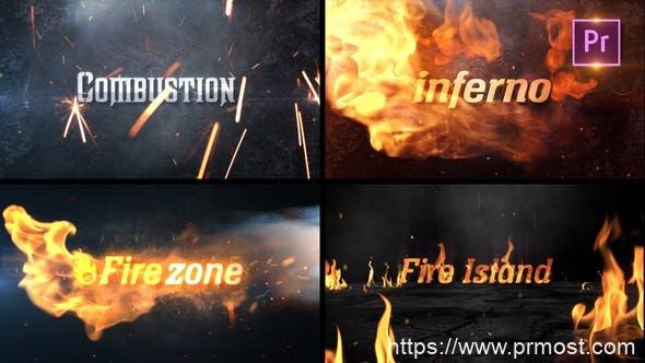 804火焰燃烧文字特效Mogrt动画Pr预设,Fire Title Sting Pack_Premiere PRO