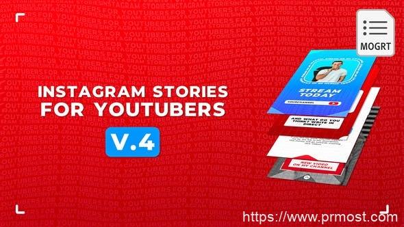 807INS网络竖屏视频Mogrt动画Pr预设,Instagram Stories