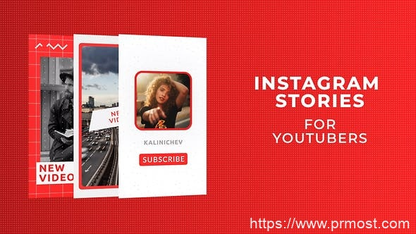 808INS网络竖屏视频Mogrt动画Pr预设,Instagram Stories