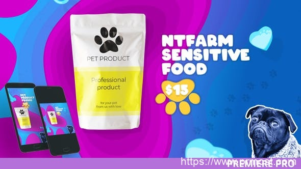 819产品促销包装Pr模版,Pet Products Promo for Premiere