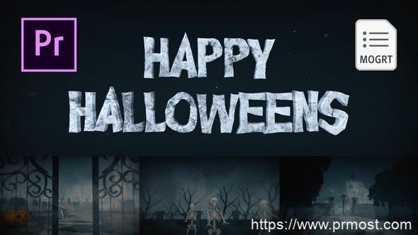 830创意视频包装Mogrt动画Pr预设,Halloween for Premiere Pro
