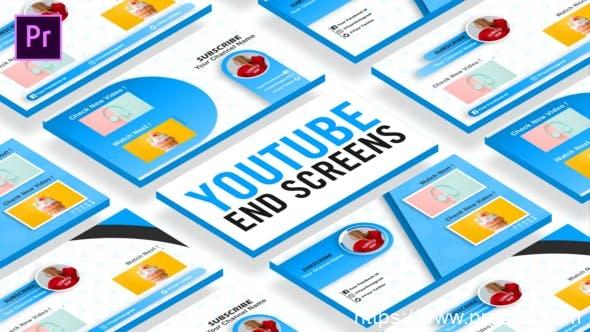 847新媒体视频包装Mogrt预设Pr预设,Youtube End Sceens Premiere Pro