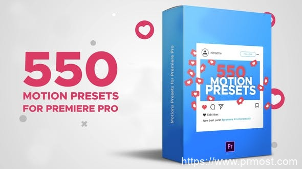 849-550组动态预设Pr模版,Motion Presets for Premiere Pro