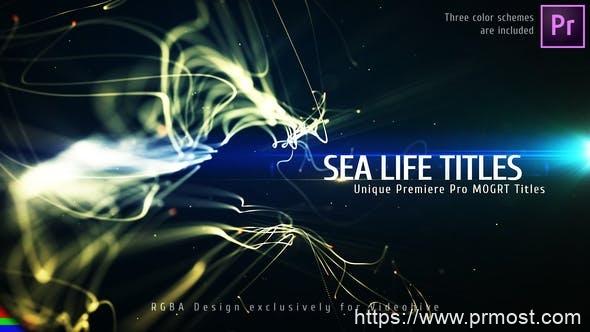 851唯美大气文字标题Mogrt预设Pr预设,Sea Titles – Premiere Pro