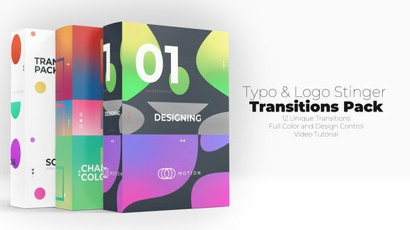 854创意视频转场过渡特效Pr模版,Typo & Logo Stinger Transitions Pack