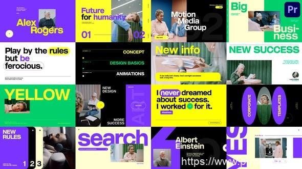 864公司企业文字标题视频包装Mogrt动画Pr预设,Corporate Titles Pack
