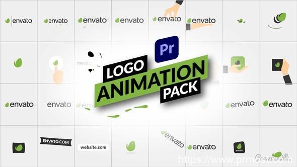 870-PR预设 32组扁平化简洁Logo动画,Logo Animation Pack for Premiere Pro 31190970