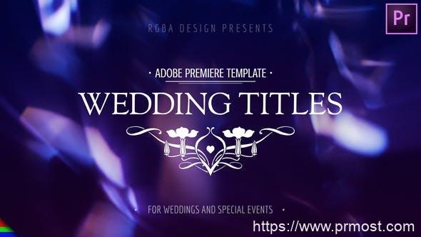 878PR预设婚礼文字标题字幕动画,Modern Wedding Titles – Premiere Pro 24731646