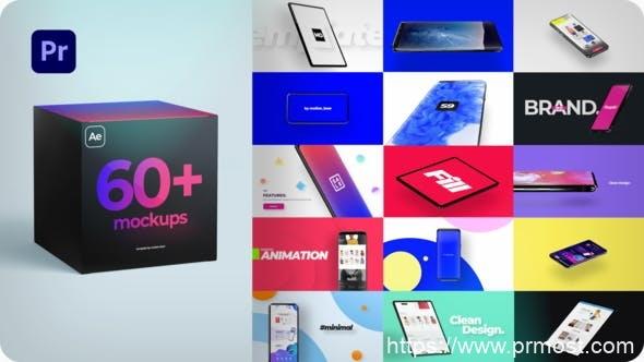 884PR预设手机平板电脑APP宣传展示动画 Mockup Kit for Premiere Pro 31602371