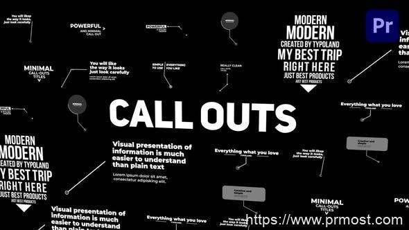 889-PR预设12组呼叫指示线动画 Corporate Call Outs 31701932