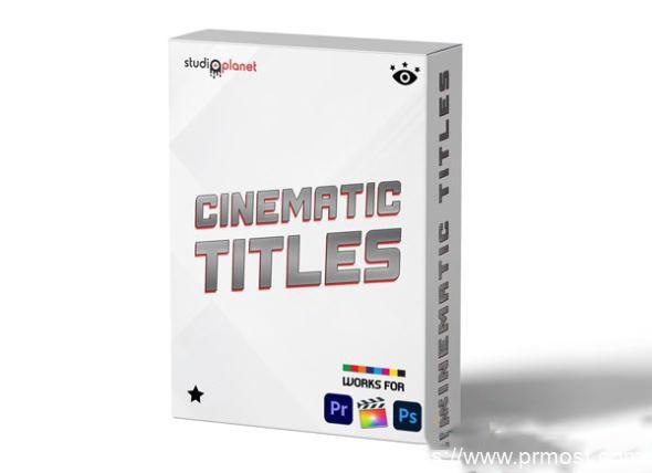 892-PR卡通大气社交网络文字标题字幕条预设StudiosPlanet – Cinematic Titles Bundle