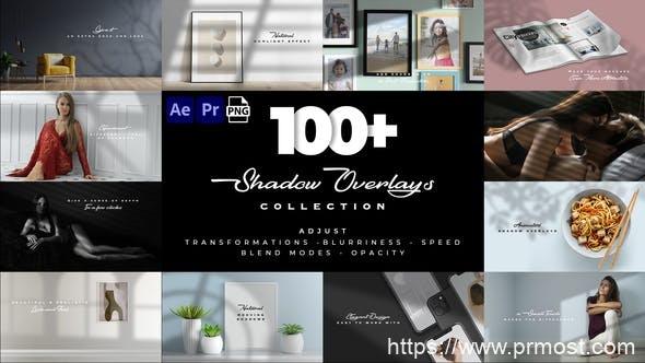 894-真实投影叠加优雅场景动画AE模版+Pr预设,Realistic Shadow Overlays Collection 32076650