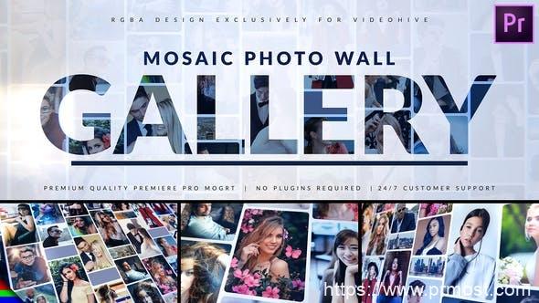 921马赛克图片相册动画Mogrt预设Pr预设,Mosaic Photo Gallery