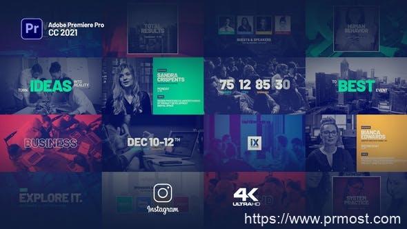 924项目介绍视频宣传Mogrt动画Pr预设,Event Promo