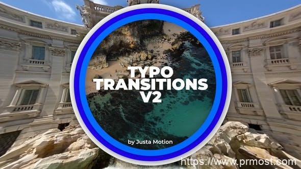 926文字标题转场过渡Pr模版,Typo Transitions v2